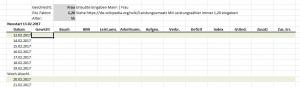 Abnehmen mit Excel